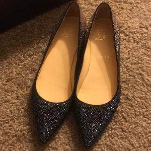 Christian louboutin shinny shoes sandals size 8